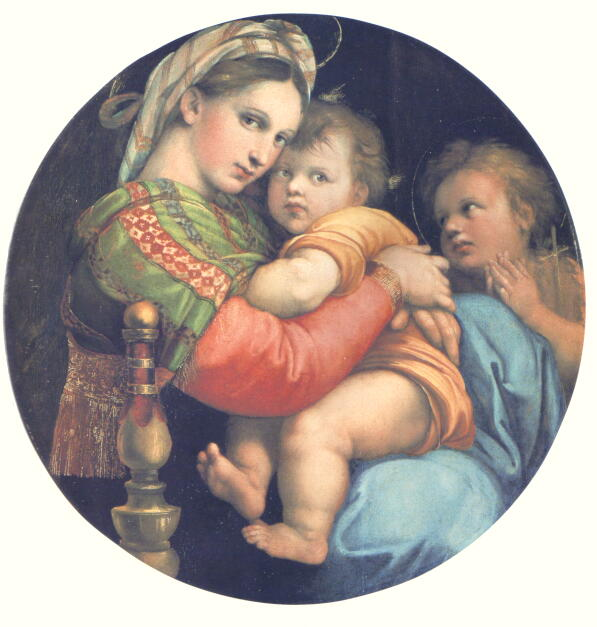 子椅子の聖母 ラファエロ 西洋絵画美術館