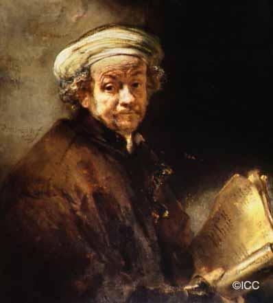 レンブラント自画像 西洋絵画美術館